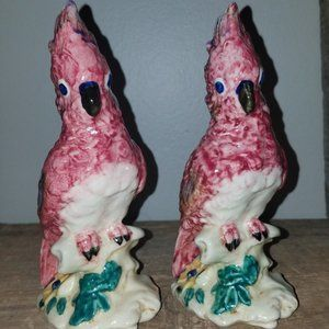Vintage Pair of Stangl Pottery Cockatoo Birds